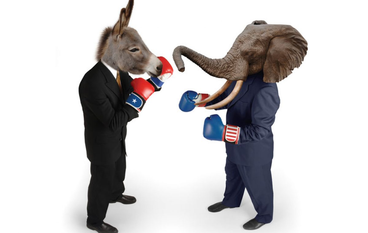 Verschil tussen de Democraten en de Republikeinen